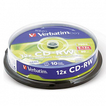 Диск CD-RW 700Mb 4-12x SMART TRACK Slim
